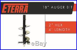 Eterra Brand Skid Steer Auger Bit 18 Width 2 Hex