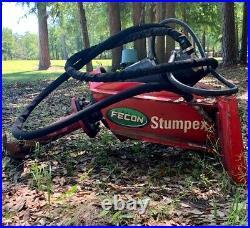 Fecon Stumpex Stump Grinder & Extra $4,000 Auger Skid Steer Attachment Implement