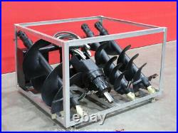 Greatbear Auger Earth Drill Hydraulic Skid Steer Attachment withBits bidadoo -New