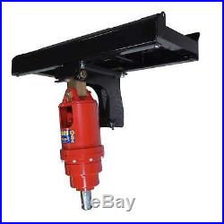 HD Skid Steer Auger Frame & Bracket Post Hole Digger with 4500 PSI Planetary Drive