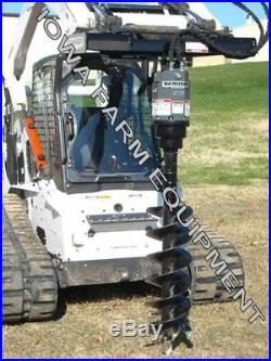 Hydraulic Post Hole Digger Auger Drive, Skidsteer Q/ADanuser EP15 & 12x4' Auger