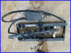 Kubota Sa20 Auger, 6-30gpm, Skid Steer Quick Attach, 9 Bit