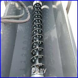 LandHonor skid steer side discharge bucket auger conveyor feed sand fence post