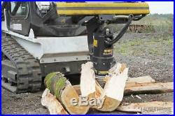 Log Splitter Bit for Skid Steer Post Hole Auger 2.56 Round Auger Torque
