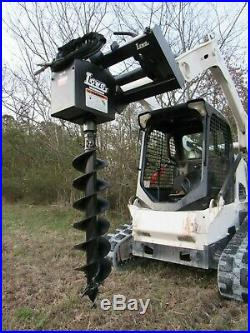 Lowe 1650 Hex Auger Drive Attachment with 12 Wide Bit Fits Skid Steer Loader
