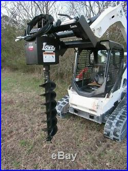 Lowe 1650 Hex Auger Drive Attachment with 15 Wide Bit Fits Skid Steer Loader