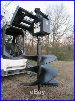 Lowe 1650 Hex Auger Drive Attachment with 24 Wide Bit Fits Skid Steer Loader