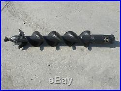 Lowe SQ-6 Skid Steer Auger Bit 6 Diameter, 2-9/16 Round Drive, 36 Tall