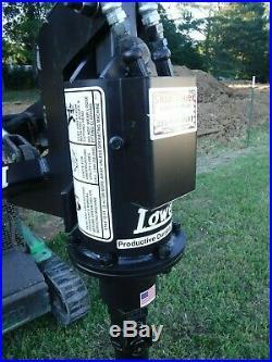 Lowe TJ-100 Mini Skid Steer Auger Post Hole Digger with 4 Auger Bit Ship $199