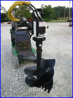 Lowe TJ100 Mini Skid Steer Auger Post Hole Digger with 24 Auger Bit Ship $199