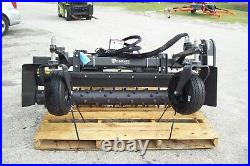 M6H Harley Power Landscape Rake For Skid Steers, 72 Wide, Hydraulic Angle