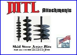 MTL Attachments 48 x 9 skid steer HD Auger Bit with2 Hex -Free Shipping