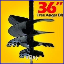McMillen 36 x 4' Skid Steer Tree Auger Bit Uses 2 Hex Drive, American Made