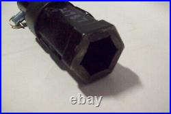 McMillen Skid Steer Auger Adapter, Goes from 2 Hex to 2.56 Round Shaft