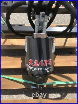 McMillen X1475 Skid Steer Auger Package, Planetary Drive 10-20 GPM w 6 Auger Bit