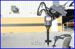 McMillen X1975 Skid Steer Auger Drive With 10 Stump Planer, Grind Stumps & Drill