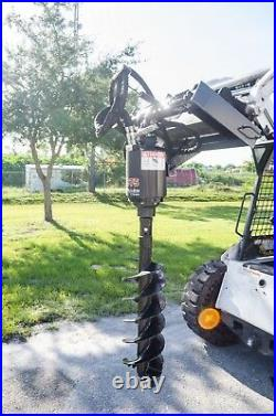 McMillen X1975 Skid Steer Auger Package with12 Rock Ripper Bit by Pengo, 2 Hex