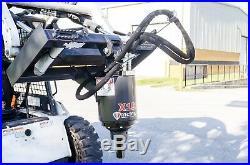 McMillen X1975 Skid Steer Auger Pkg with 18 Dirt Auger Bit, All Gear Drive