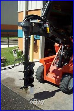Mini Skid Steer Auger Drive, 2Hex Choice of 6, 9 or 12 Bit, Will Take Rock Bit