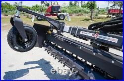 Mustang Skid Steer Loader Harley Power Landscape Rake 7' Hydraulic Angle