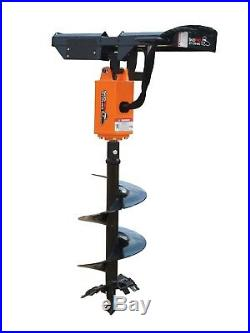 NC200 2 Hex Planetary Drive Earth Auger Skid Steer/ Loader Bobcat Kubota Case