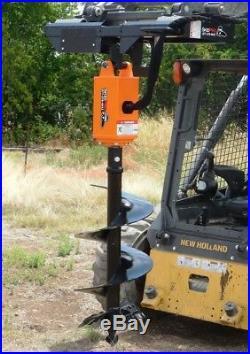 NC300 2 Hex Planetary Drive Earth Auger Skid Steer Loader Bobcat Kubota Case