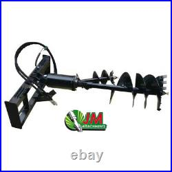 NEW Skid Steer Auger Post Hole Digger with 12 & 18 Dirt Bits 2 Hex Drive Motor