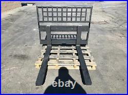 New All Star Skid Steer Fork Set 48 1.5x4x48 CL2 USA Made