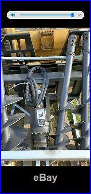 New Skid Steer Hydraulic Auger Post Hole Digger 9 + 12 + 18 Bits Skidsteer