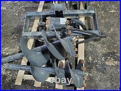 New Skid Steer Loader Hydraulic Auger Post Hole Digger 12 + 18 Bits Skidsteer