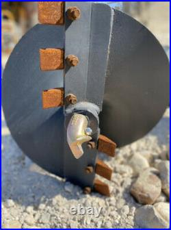 New Skidsteer skid steer hydraulic auger post hole digger 12+ 16 bits