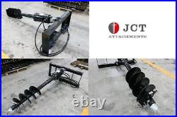 New in Crate JCT Skid Steer Loader Auger with 12 & 18 Bits fits mtl bobcat cat