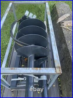 New post hole auger digger Attachment For Skid Steer bits 12 18