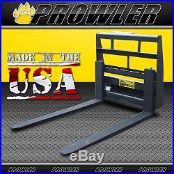 Prowler 42 Inch Heavy Duty Mini Skid Steer Pallet Forks 2800 Lbs Capacity