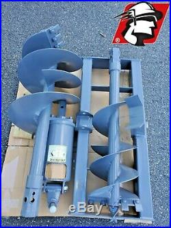 Skid Steer Auger 6-15 GPM for Bobcat Machines 2 Hex, Mount, Hoses and Bits