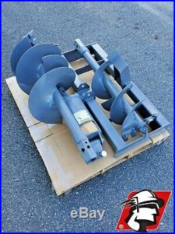 Skid Steer Auger 6-15 GPM for Kubota Machines 2 Hex, Mount, Hoses and Bits