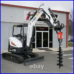 Skid Steer Auger Attachment 15-30 GPM 2 Hex with 3/4 Hoses and Mount Kubota