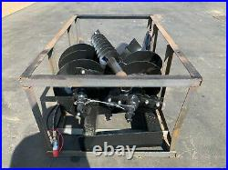 Skid Steer Auger Attachment with 3 bits, 8, 12, 14