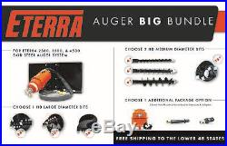 Skid Steer Auger BIG BUNDLE Landscapers & Contractors Eterra 4500 Auger