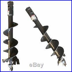 Skid Steer Auger Bit 6 Width, 42 Over All Length 2 Hex Attachment Pengo