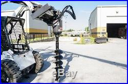 Skid Steer Auger Drive by McMillen X1975 All Gear Drive, with 16 Rock Ripper Bit