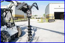Skid Steer Auger Drive by McMillen X1975 All Gear Drive, with 24 Rock Ripper Bit