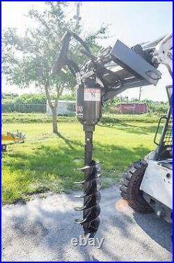 Skid Steer Auger Drive by McMillen X1975 All Gear Drive, with 30 Rock Ripper Bit