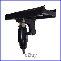 Skid Steer Auger Frame & Bracket Post Hole Digger with 3000 PSI Planetary Drive