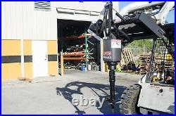 Skid Steer Auger McMillen X1475 w 10 Stump Planer, Grind Stumps & Drill Holes