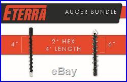 Skid Steer Auger Package Eterra Brand 4 & 6 Auger Bits
