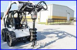 Skid Steer Auger Package with24 Auger Bit, All Gear Drive, McMillen X1975, Fits All