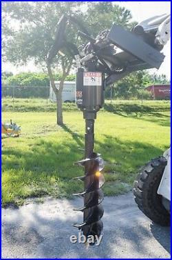 Skid Steer Auger w 24 Tree Bit, McMillen X1975 All Gear Drive, Plug & Go To Work