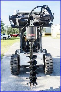 Skid Steer Auger w 30 Tree Bit, McMillen X1975 All Gear Drive, Plug & Go To Work