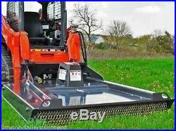 Skid Steer Brushcutter Bradco Ground Shark 5', Cuts 4 Tree, Uses Standard Flow